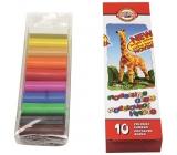 Koh-i-Noor Žirafa školní modelovací hmota 10 barev po 20 g