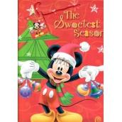 Ditipo Disney Dárková papírová taška pro děti Mickey Mouse drží ozdoby 26,4 x 12 x 32,4 cm