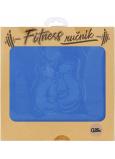 Albi Fitness ručník Rukavice modrý 90 x 50 cm