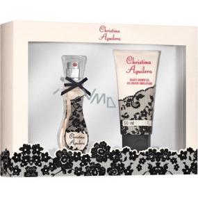 Christina Aguilera Signature parfémovaná voda pro ženy 15 ml + sprchový gel 50 ml, dárková sada