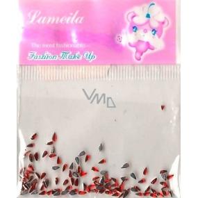 LaMeiLa Ozdoby na nehty kapičky červené 1 balení