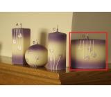 Lima Rozkvetlá louka svíčka světle fialová elipsa 110 x 90 mm 1 kus
