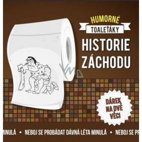 Albi Vtipný toaleťák Historie záchodů, 20 metrů šustivého luxusu, Dárkový toaletní papír