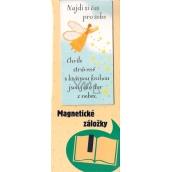 Albi Magnetická záložka do knížky Andílek sype z nebe hvězdičky 9 x 4,5 cm