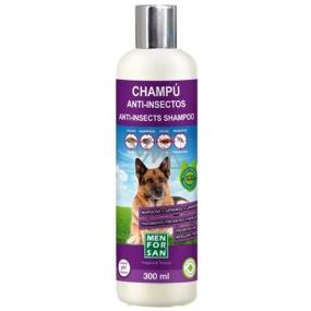 Menforsan Přírodní repelentní pěnový šampon s extraktem z margósy, levandulového oleje a geraniolu pro psy 300 ml