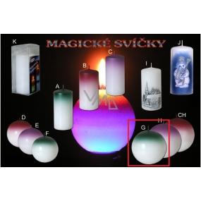 Lima Magická zelená svíčka koule 100 mm 1 kus
