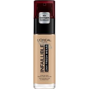 Loreal Paris Infallible 24H Fresh Wear Foundation make-up kryje nedokonalosti, nestírá se, nevysušuje pleť 200 Golden Sand 30 ml