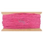 Provázek papírový růžový 30 m