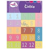Ditipo Číslice zábavné učení pexeso seznámení se s čísly od 1-20 a desítkami 10-90, 297 x 222 mm