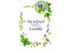 Moje Bylinkové přání k svátku s vonným sáčkem Vše nejlepší k svátku Meduňka 02