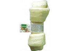 Salač Uzel buvolí Žvýkací uzel z buvolí kůže přírodní doplňkové krmivo 28 - 30,5 cm bílý