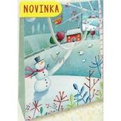 Nekupto Dárková papírová taška malá 14 x 11 x 6,5 cm Vánoční 1799 40 WBS