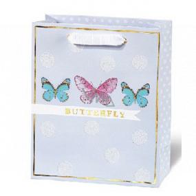 BSB Luxusní dárková papírová taška 23 x 19 x 9 cm Dots & Mutterfly LDT 408 - A5