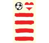 Arch Tetovací obtisky na obličej i tělo Rakouská vlajka 1 motiv