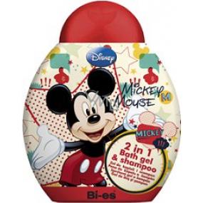 Disney Mickey Mouse 2v1 sprchový gel do koupele a šampón 250 ml
