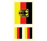 Arch Tetovací obtisky na obličej i tělo Německo vlajka 2 motiv