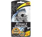 Wilkinson Xtreme 3 Black Edition holící strojek pro muže 4 kusy