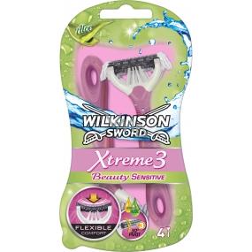 Wilkinson Sword Xtreme 3 Beauty Sensitive 3břitý holící strojek 4 kusy