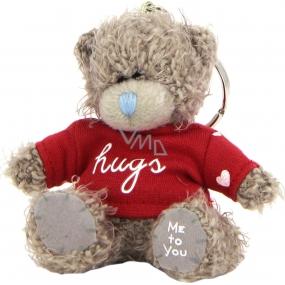 Me to You Medvídek v tričku s nápisem Hugs plyšová klíčenka 7,5 cm