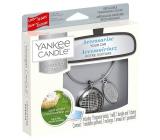 Yankee Candle Clean Cotton - Čistá bavlna základní set kovové stříbrné visačky do auta Charming Scents set Linear 13 x 15 cm, 90 g