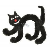 Kočka černá na postavení 10 cm