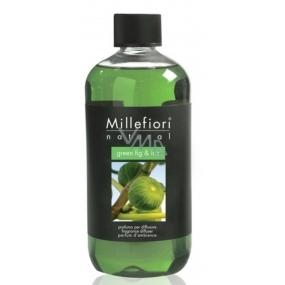 Millefiori Milano Natural Green Fig & Iris - Zelený fík a kosatec Náplň difuzéru pro vonná stébla 250 ml