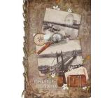 Ditipo Fotoalbum Retro Londýn, lupa, truhla B4 24 x 34 cm