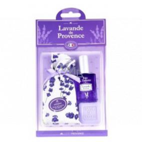 Esprit Provence Levandule pytlík s levandulí + toaletní mýdlo 25 g + toaletní voda miniatura 5 ml, dárková sada