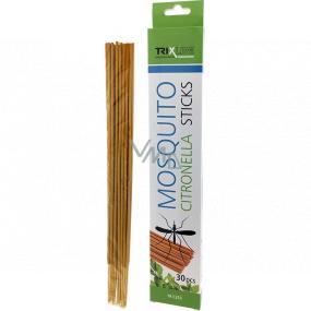 Trixline Mosquito Citronella Sticks tyčinky s citronelou proti komárům 30 kusů TR C355