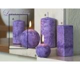 Lima Mramor Levandule vonná svíčka fialová válec 50 x 100 mm 1 kus