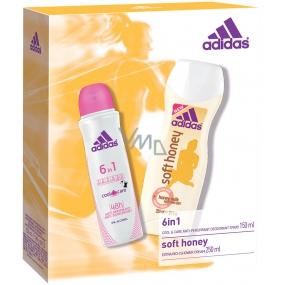 Adidas Cool & Care 48h 6v1 deodorant antiperspirant sprej pro ženy 150 ml + Soft Honey sprchový gel 250 ml, kosmetická sada