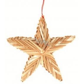 Slaměná hvězdička 6,5 cm