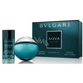 Bvlgari Aqva pour Homme toaletní voda 50 ml + deodorant stick 75 ml, dárková sada