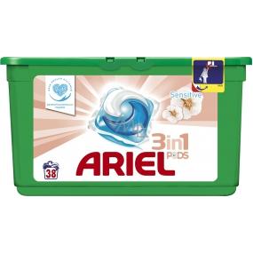 Ariel Sensitive 3v1 gelové kapsle na praní prádla 38 kusů