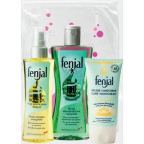 Fenjal Body Oil tělový olej 150 ml + Shower Oil sprchový olej 200 ml + Intensive Care krém na ruce 75 ml, kosmetická sada