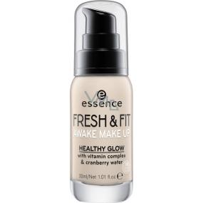 Essence Fresh & Fit Awake make-up 10 Fresh Ivory 30 ml