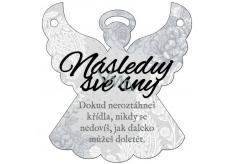 Albi Závěsná plaketka andílek Následuj své sny 9 x 10 cm