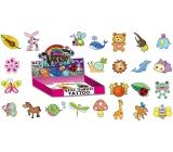 Tetovací obtisky barevné pro děti v krabičce 5 x 3,8 cm 72 kusů