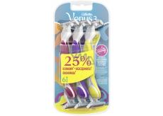Gillette Simply Venus 3 pohotové holítko s lubrikačním páskem pro ženy 3 barvy 6 kusů