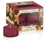 Yankee Candle Glittering Star - Zářivá hvězda vonná čajová svíčka 12 x 9,8 g