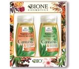Bione Cosmetics Cannabis regenerační šampon na vlasy 260 ml + relaxační sprchový gel 260 ml, kosmetická sada