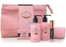 Castelbel Rosé Blush sprchový gel 100 ml + toaletní voda 10 ml + tělové mléko 100 ml + mýdlo 40 g + ručníček 30 x 32 cm + uzavíratelný průhledný obal pro ženy cestovní sada