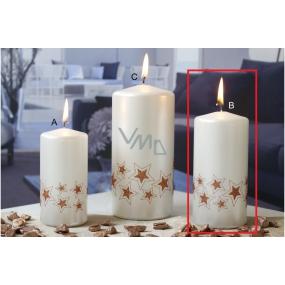 Lima Starlight svíčka bílá/měděná 60 x 120 mm 1 kus