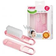 Baby Farlin Kartáček a hřebínek pro děti od 0 měsíců BF-150
