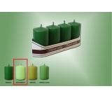 Lima Svíčka světle zelená válec 40 x 70 mm 4 kusy