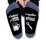 Nekupto Rodinné dárky s humorem Ponožky V lednici je pivo, velikost 43-46