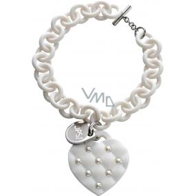 Ops! Objects Matelassé Pearl Bracelet náramek OPSBR-180 bílá