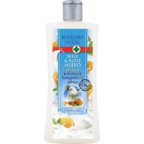 Bohemia Herbs Med a Kozí mléko krémová koupelová pěna 500 ml