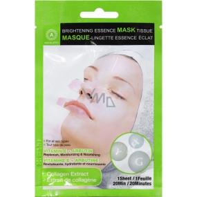Absolute New York Brightening Essence Mask Tissue Collagen Extract pleťová maska ubrousek 1 kus