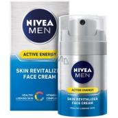 Nivea Men Active Energy revitalizační pleťový krém pro všechny typy pleti 50 ml